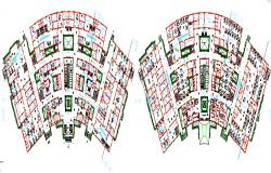 Floor Plan of Genera Hospital Complex dwg file