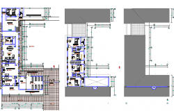 Floor Plan of Religious Housing Project dwg file