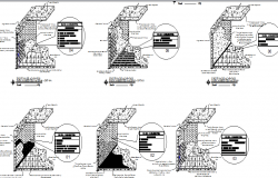Floor and wall finishes for clinic construction details dwg file