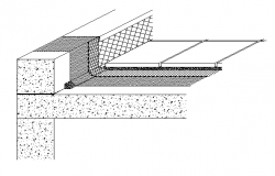 Floor construction details of terrace dwg file