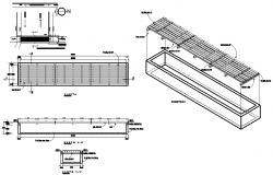 Floor grid plan detail dwg file