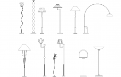 Floor lamp plan detail dwg.