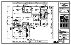 Floor layout of House design drawing