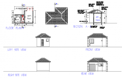Floor layout plan autocad file