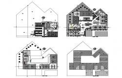 Floor plan and auto-cad details of architecture college building dwg file