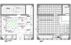 Floor plan and ceiling plan detail dwg file