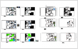 Floor plan and elevation design view with architect plan with electrical and sanitary plan view dwg file