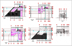 Floor plan and section view of office dwg file