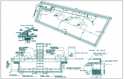 Floor plan and structure detail view dwg file