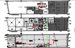 Floor plan details of an industrial plant dwg file