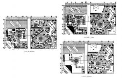 Floor plan details of four star hotel cad drawing details dwg file