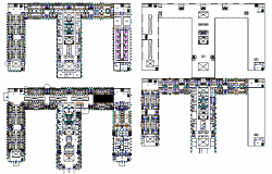 Floor plan details of multi-specialty hospital dwg file