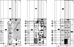 Floor plan details of single family house project dwg file
