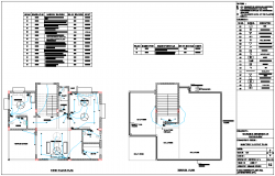 Floor plan electrical view of bungalows dwg file