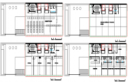 Floor plan layout details of administration building dwg file