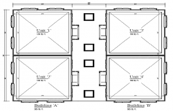 Floor plan of  building dwg file