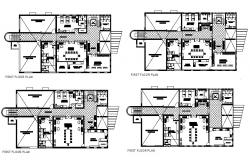 Floor plan of Building in autocad file