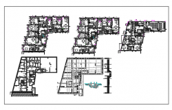 Floor plan of Flat for apartment  dwg file