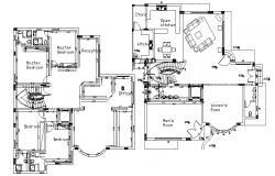 Floor Plan Design In AutoCAD File