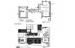 Floor plan of Residential house with Electric layout in Autocad