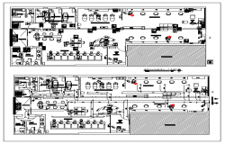 Floor plan of a Beauty Salon dwg file