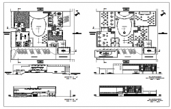 Floor plan of a casino cum restaurant dwg file