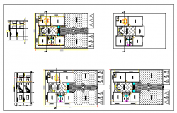 Floor plan of a hotel dwg file