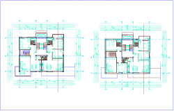 Floor plan of apartment dwg file