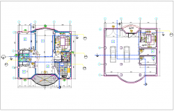 Floor plan of apartment with single line view of PVC line dwg file