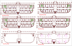 Floor plan of building for single plumbing detail view dwg file