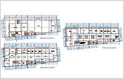 Floor plan of civic center dwg file