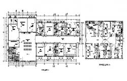 Floor plan of clinic with  architectural view in autocad