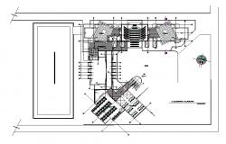 Floor plan of commercial building dwg file .