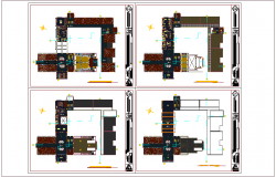 Floor plan of education building dwg file