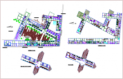 Floor plan of hospital project dwg file