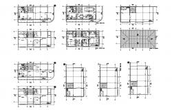 Floor plan of house design 12.00mtr x 6.00mtr in dwg file