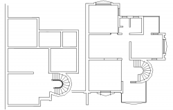 Floor plan of house design in autocad