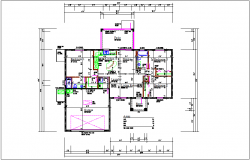 Floor plan of house dwg file