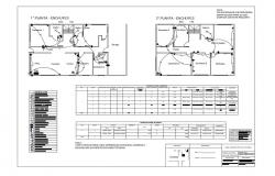 Floor plan of house with electrical view with its legend dwg file