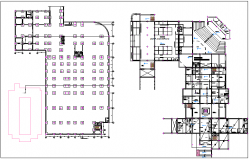 Floor plan of municipal building dwg file