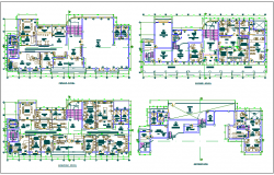 Floor plan of municipality building dwg file