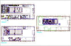 Floor plan of office building dwg file