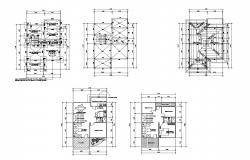 Floor plan of residential house 8.00mtr x11.80mtr with roof plan in AutoCAD
