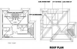 Floor plan of residential house in dwg files