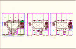 Floor plan of school dwg file