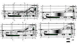Floor plan of self catering apartment architecture view dwg file