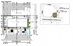 Floor plan of shop architecture view dwg file
