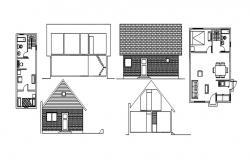 House Floor Plan Design In AutoCAD File