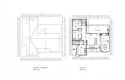 Floor plan of the house design with detail dimension in AutoCAD