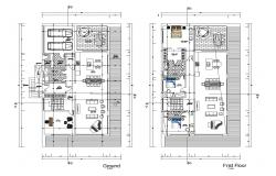 Floor plan of the house with details dimension in dwg file